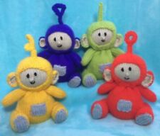 KNITTING PATTERN - Teletubbies inspired chocolate orange cover or 15 cms toy