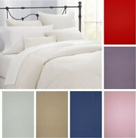 EGYPTIAN COTTON HOTEL QUALITY 200 T/C DUVET COVER SETS CHOICE OF COLOURS SIZES