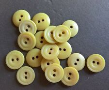 New listing 18 Small Vtg Ivory-/Bone-Colored Plastic Buttons set lot midcentury diminutive