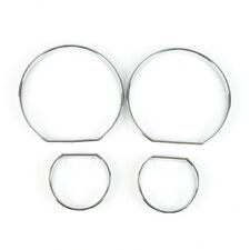 4pcs Set Bezel Trim Speedometer Gauge Dash Dial Rings Fit For BMW E46 1998-2005