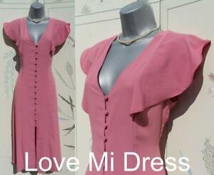 Gorgeous - 40's style Pink Tea/Day Dress Sz 6 EU34