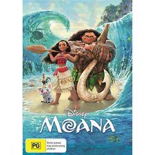 MOANA-DVD-Disney Movie-Voice Of Dwayne Johnson-Region 4-New Sealed