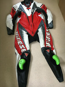 DAINESE ONE PIECE RACING LEATHERS FRESHLY CLEANED & CONDITIONED SIZE 52 EURO