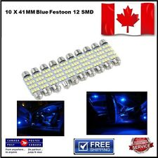 10 X Festoon Xenon Blue 41mm LED Dome Light Bulb 12 SMD LED chips Interior 3528