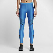 Nike Power Speed Running Dri Fit Tights Women's Size Small- Blue