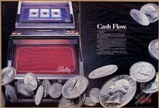 1987 Bally slot machine big color photo vintage print ad
