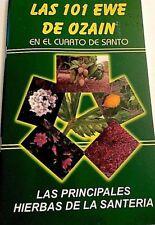 Libro Book Las 101 Ewe de Ozain - Osain Yoruba y Cubana  yoruba ifa Santeria