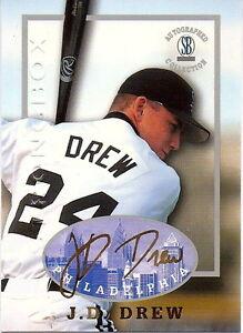 """J. D. Drew """" 50 Carte Lot """" 1997 Dédicacé Collection Rookie! Liquidation Solde"""