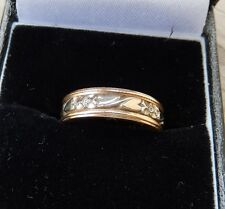 ArtCarved 14K SOLID GOLD RING,WEDDING BAND,SZ 5.5, 4.2GRAMS-2 TONE GOLD