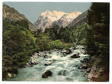 Lutschinen And Wetterhorn Bernese Oberland A4 Photo Print