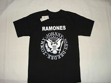 THE RAMONES POP PUNK ROCK BAND SEAL NEW T SHIRT LARGE BLACK JOEY JOHNNY TOMMY