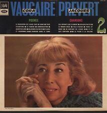 Hommage à CORA VAUCAIRE splendide 33T Chansons et Poèmes de JACQUES PREVERT