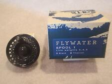 Ross Flywater Fly Reel Spool # 1 Black Finish Fishing Weights 3 4 5 w box.