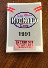 PRO RODEO CARDS,NIB, 99 CARD SET,1991/RODEO AMERICA, NFR RODEO CONTESTANTS ETC