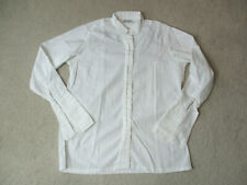 Turnbull & Asser Button Up Shirt Womens Size 10 White Long Sleeve Casual *