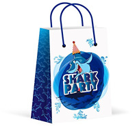 12 Pack Premium Shark Party Bags Treat Gift Goody Favors Supplies Decorations