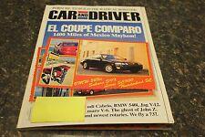 CAR AND DRIVER EL COUPE COMPARO JUNE 1993 VOL.38 #12 9248-1 [LOC.ELK] #433