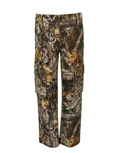 Youth's Real Tree Edge, Large or XL, Flex Fabric, Side Elastic Waist, Cargo Pant