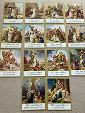 More details for catholic way of the cross jesus crucifixion complete set jesus large 10 x 8