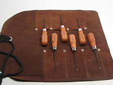 Grace USA Micro Phillips Screwdriver Set With Leather Tool Roll Belt MS-6
