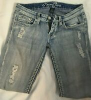 Request Womens Jeans Sz 5/27 Studded  Distressed Capri Cropped