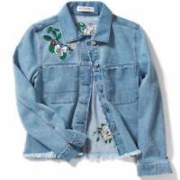 H&M x Women's Coachella Embroidered Denim Jacket Floral Festival Medium? H & M