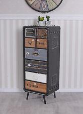 Apothekerschrank Vintage Kommode Loft Schubladenschrank Industrial Hochkommode