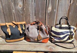 LOT 3 DOONEY & BOURKE BAG'S JULIETTE ZEBRA/BRENNA/CABRIO BUCKET SHOULDER BAG
