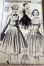 *LOVELY VTG 1950s DRESS & JACKET ADVANCE Sewing Pattern 12/30