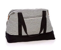 Thirty one Retro Metro Weekender travel Duffel bag 31 gift in Twill Stripe new