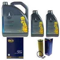 Inspektionspaket 7L Mercedes Öl 229.5 5W40+ SCT Luftfilter Ölfilter 11108904