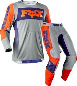 Fox 360 LINC Grey Orange Motocross MX Race Offroad Kit Gear Adults