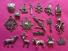 Tibetan Silver Game of Thrones Themed mixed pack of charms 18 per pack