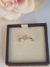 anello donna ragazza oro giallo e bianco 750 18 kt  stella misura 12
