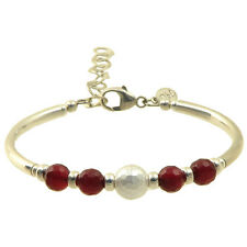 Red Jade, Pearl and Sterling Silver Limited Edition Bracelet