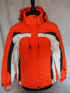 Ice Peak Ladies Ski Jacket - Orange / White   UK 10