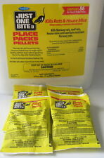 Rat & Mice Poison Pellet Packs Bromadiolone  (4 Packs) - 1.5 oz packs FRESH!