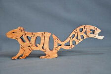 Squirrel Red,  Black or  Natural  Animal Amish Made Wooden Scroll Saw Puzzle Toy