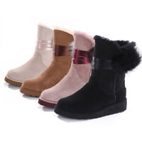 NOCK Womens Classic Mink Hairball Boots Water Resistant Premium Sheepskin Wool