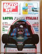 53423 Autosprint a. XIX n. 45 1979 - LOTUS MANIFESTO - No biglietto