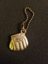 1960s 24kt Gold Plated Baseball Glove And Ball Keychains