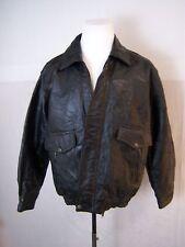 Vintage Leather & Soul Genuine Leather Bomber/ Biker Jacket Men's Size L
