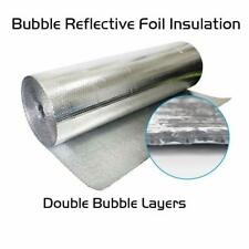 "Refletek 48"" x 100' Double Bubble Reflective Foil Insulation 400sqft R8"