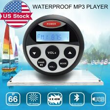 Marine Gauge Boat FM Radio Waterproof Bluetooth Stereo Receiver Car MP3 ATV UTV