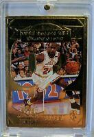1998 UD Career Highlights 22K Gold Michael Jordan, 2nd NBA Championship 92, Card