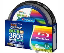 New! 10 Verbatim BD-R DL 50GB 4x Bluray Disc Original Packaging Inkjet Printable