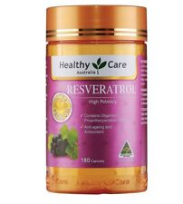 Healthy Care Resveratrol 180 Capsules OzHealthExperts