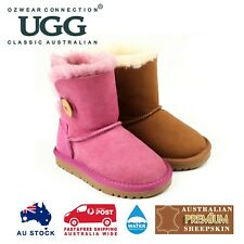 OZWEAR UGG KIDS UGG BUTTON BOOTS (WATER RESISTANT) 2 COLOURS OB022II