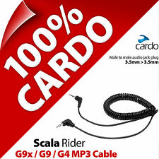 Cardo Scala Rider MP3 Cable 3.5mm to 3.5mm Aux G9x / G9 / G4 Motorcycle Helmet
