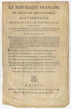PUY DE DOME - Rare carte originale du Département - Révolution, Atlas 1795